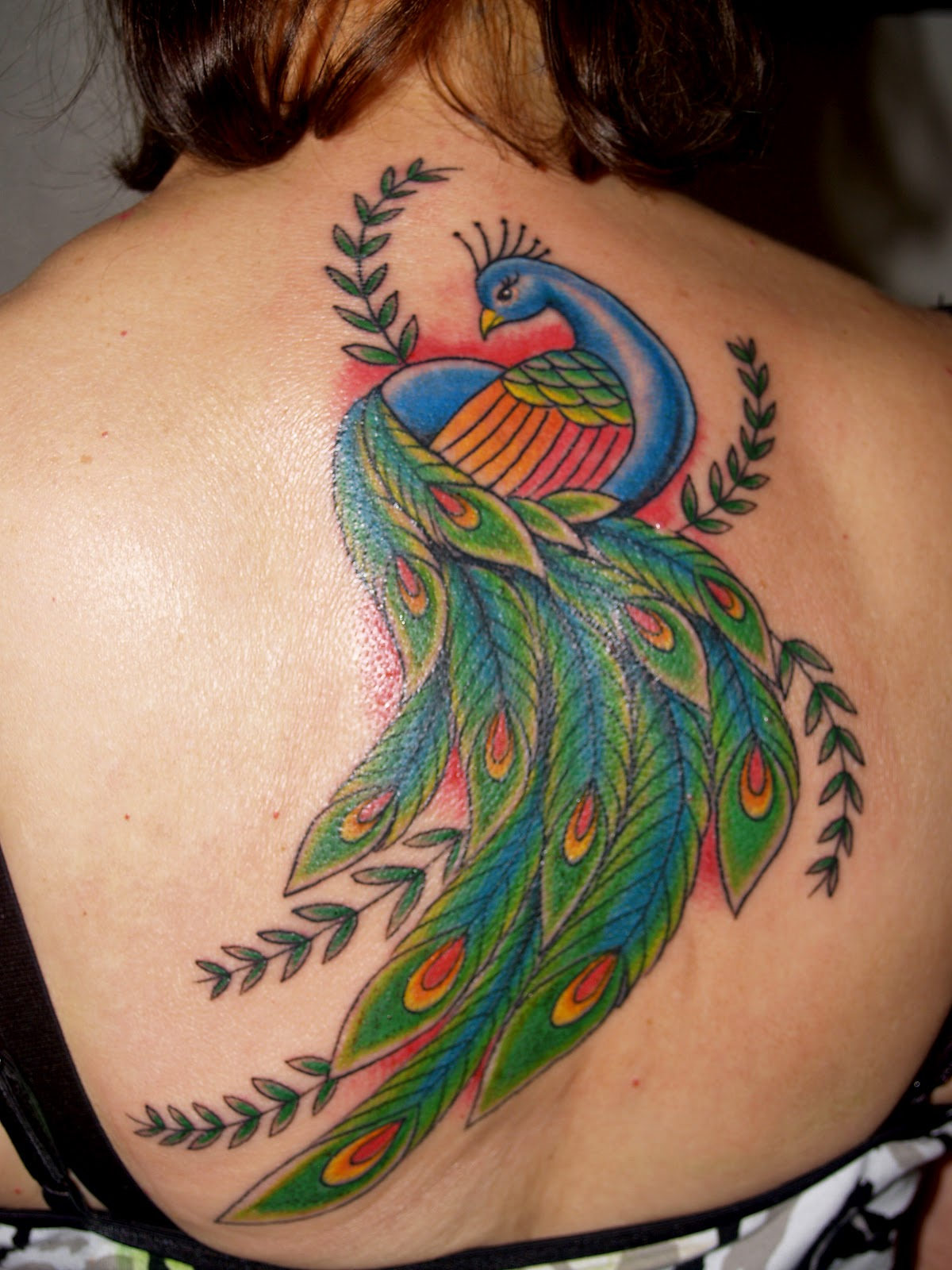 Peacock Tattoo: HECTOR LOPEZ TATTOOING: Peacock Tattoo