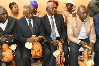 DP William Ruto and his brother David Ruto at Dowry Negotiation Ceremony. PHOTO | Bana