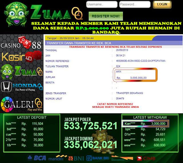 ZumaQQ, Agen BandarQ, Domino99, Poker Online Terpercaya