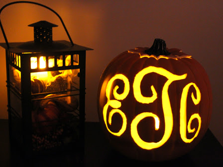 Favorite Fall Project: Monogrammed Pumpkin