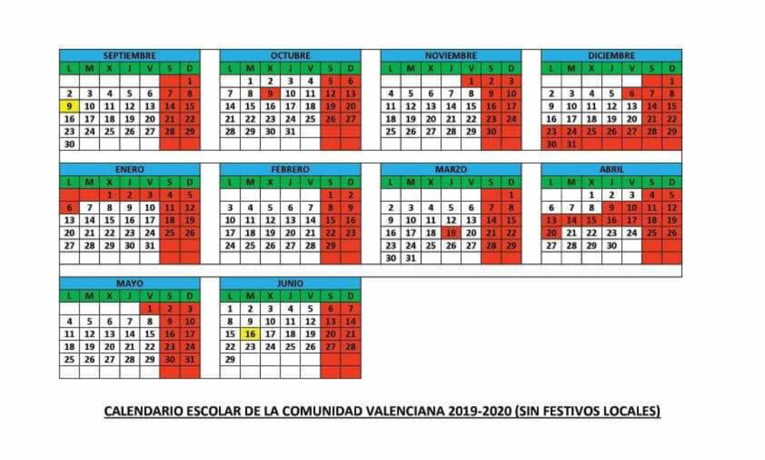 Calendario Escolar 2020 2020 Comunidad Valenciana.A Mm Pp Aa Ceip San Fernando Elche Calendario Escolar Comunidad