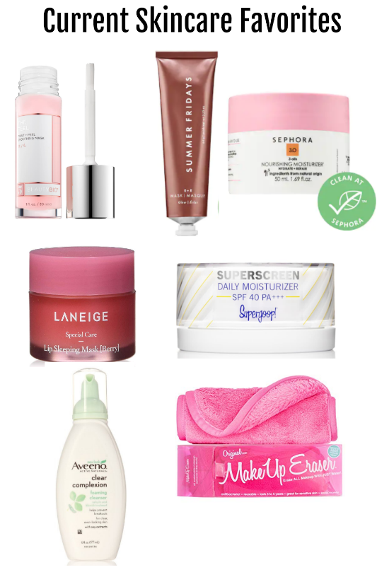 Summer Fridays, Laneige lip mask, supergoop mositurizer, aveeno cleanser, makeup eraser, beauty bio peeling mask, best skincare products, 2020 skincare products to buy, sephora moisturizer