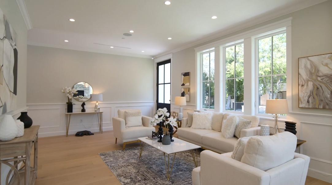 39 Interior Design Photos vs. Tour 4907 Valjean Ave, Encino, CA Luxury Home