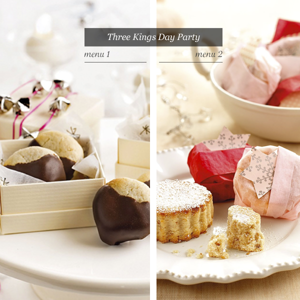   Two party menus for the Three Kings' Day