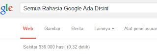 Mencari rahasia tersulit dari bagian google