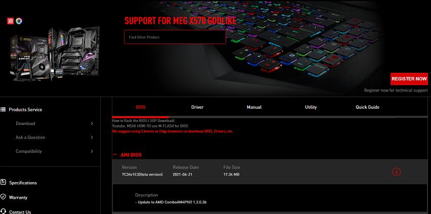 BIOS AMD AGESA 1.2.0.3 Yama B