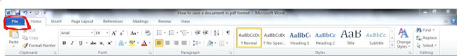 How to save a document in pdf format
