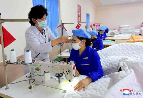 At Pyongyang Kim Jong Suk Silk Mill