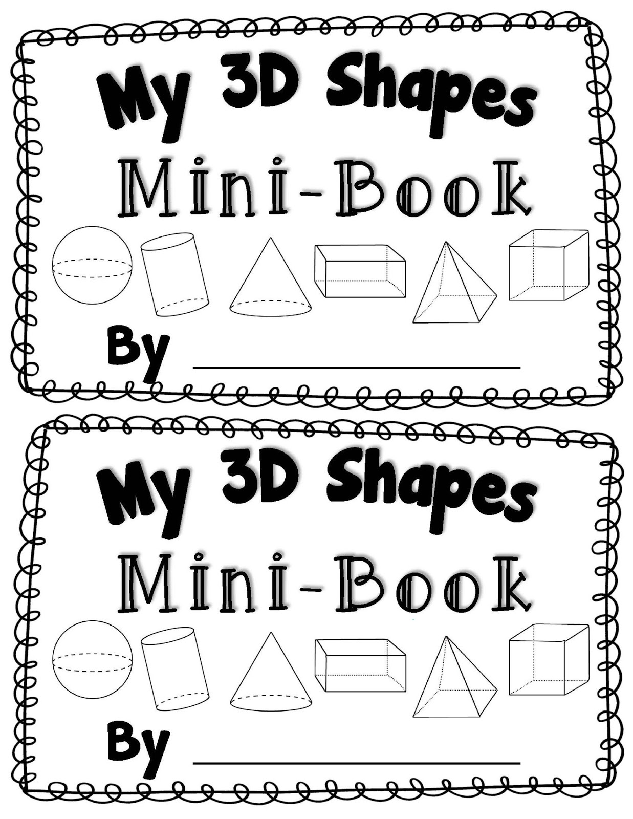 25 Kindergarten Printable Shape Books