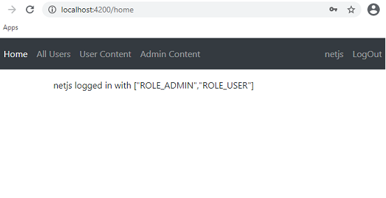 Login with token Angular