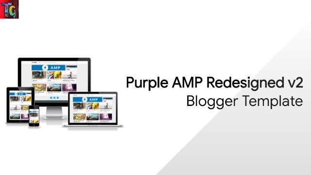 Purple AMP Redesigned v2 Blogger Template