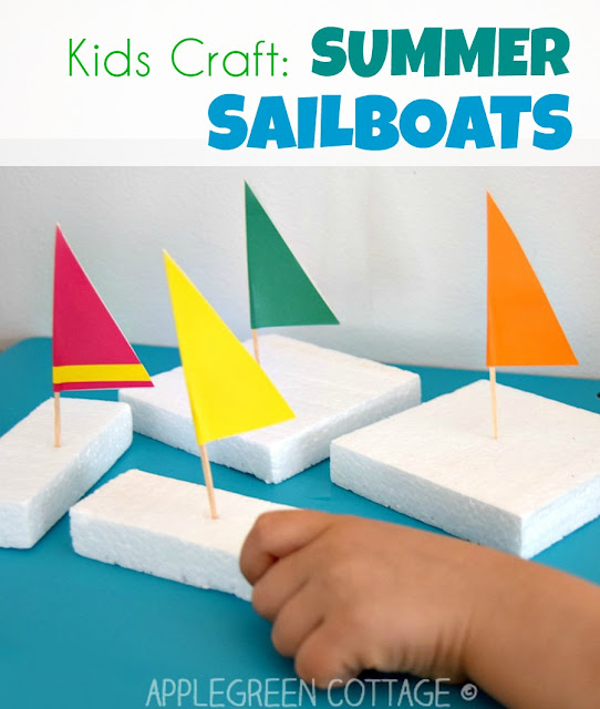 How To Make Easy DIY Sailboats Out Of Styrofoam Packaging A Great Water Play Idea