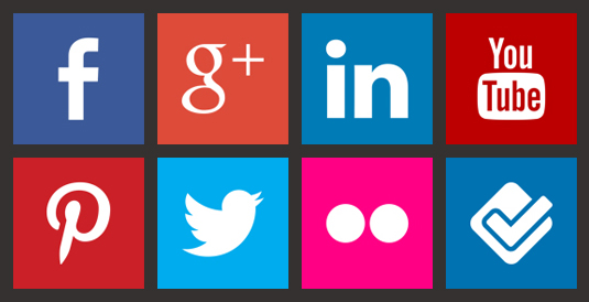 Loghi Social Network: Facebook, Google+, LinkedIn, YouTube, etc.
