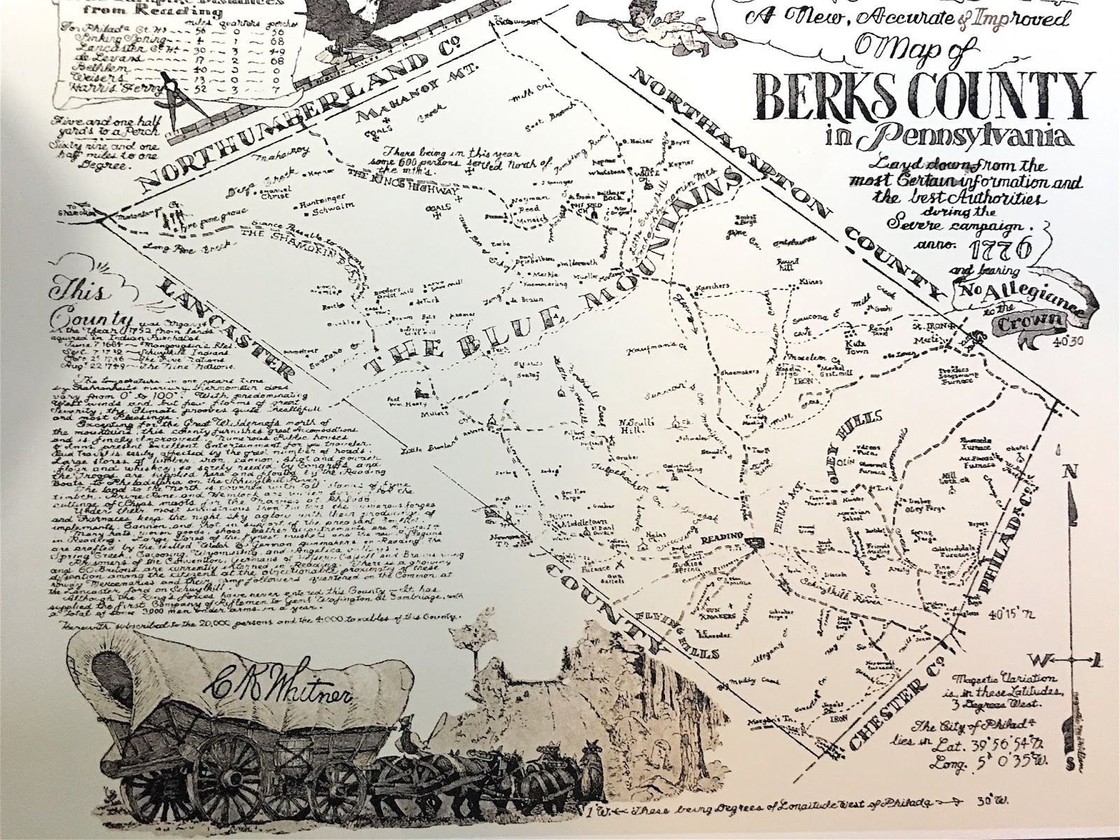 here is what the berks county looked like in 1776 the enoch and marie van campen weaver family moved from hamilton twp northhampton co now monroe co in
