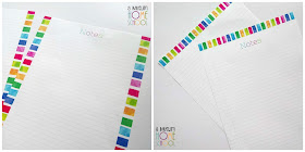 matching blank note writing pages for the homeschool planner