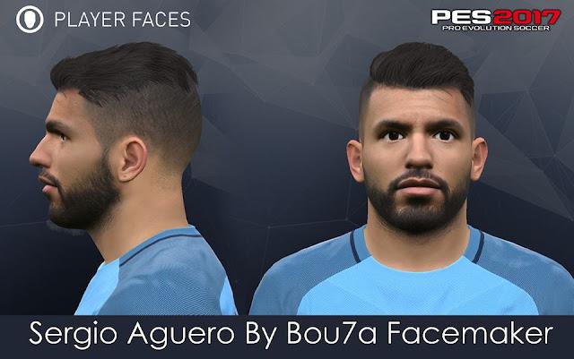 face Kun Aguero PES 2017 By Bou7a Facemaker