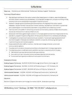 desktop support technician resume samples in word format free download