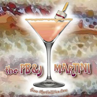 The PB&J MARTINI Cocktail Recipe