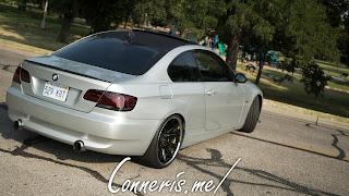 BMW 335i E92 rear angle