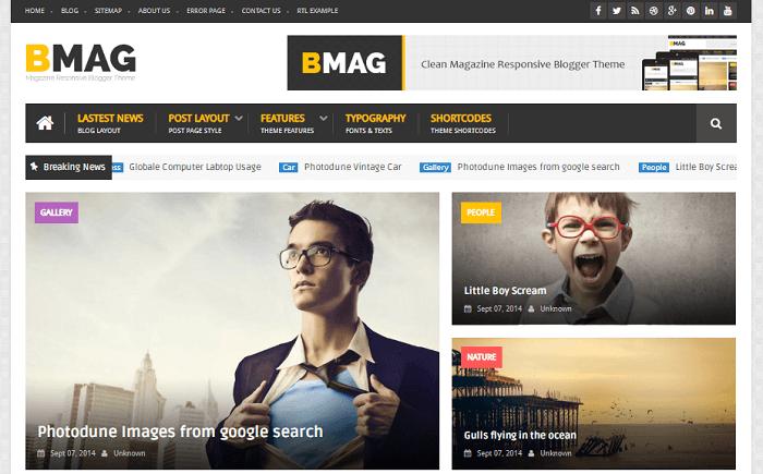 BMAG - Magazine Responsive Blogger Template