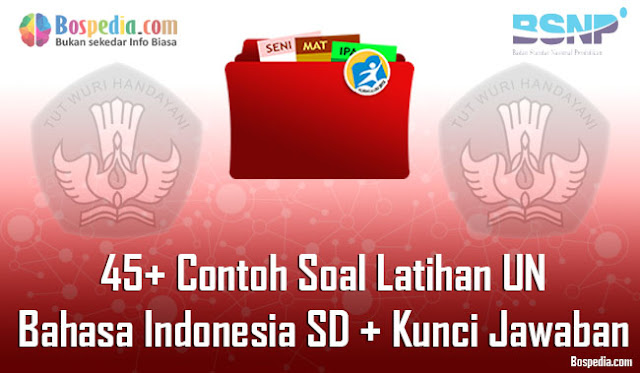 Contoh Soal Latihan UN Bahasa Indonesia SD  Lengkap - 45+ Contoh Soal Latihan UN Bahasa Indonesia SD + Kunci Jawaban
