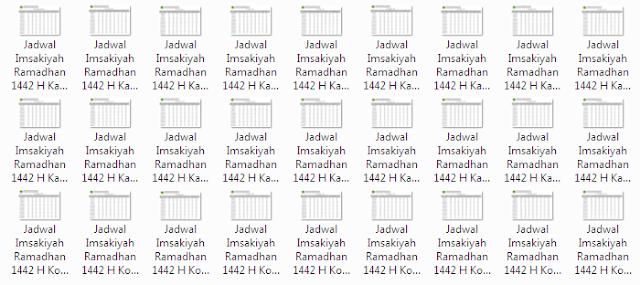 Kumpulan Jadwal Imsakiyah Ramadhan 1442 H Kabupaten/Kota di Provinsi Jawa Barat