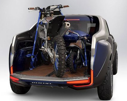 Load A Motorcycle Diagonally On A Truck Bed
