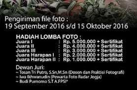 Info Lomba Foto Oktober Hadiah pertama 5 Juta