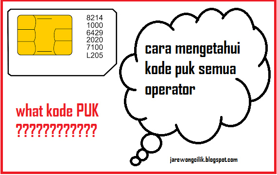 Cara mengetahui kode puk semua operator