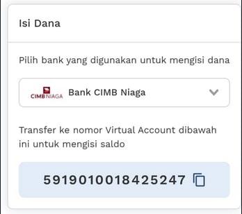 Nomor rekening virtual
