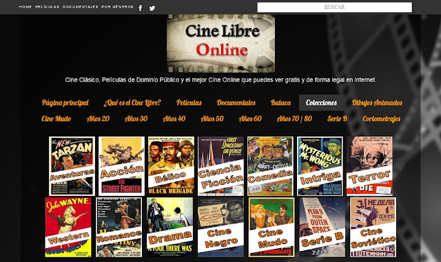 Cine Libre Online, la mejor web para ver cine clásico Online gratis
