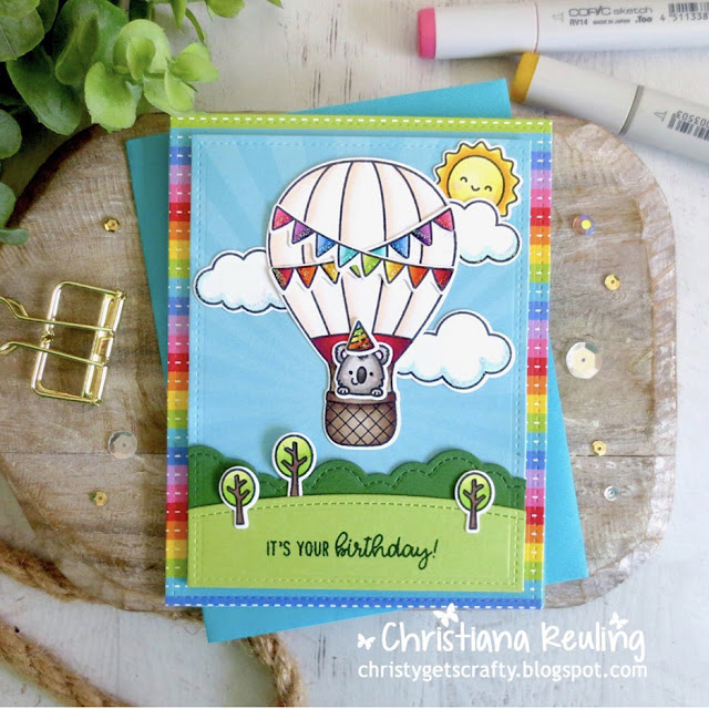 Sunny Studio Stamps: Balloon Rides Customer Card by Christy Reuling