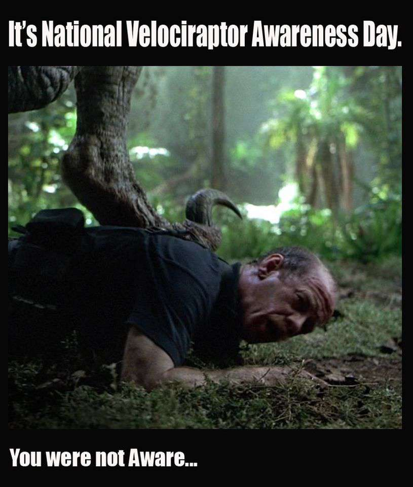 National Velociraptor Awareness Day Wishes Sweet Images