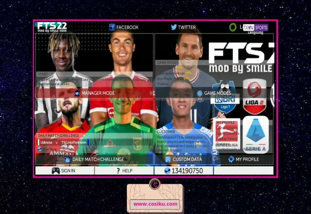 FTS 22 APK+OBB Data Bri Liga 1 Indonesia & Full Eropa