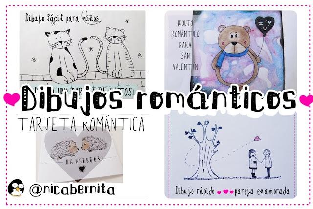 Dibujos románticos para copiar y colorear (Especial San Valentín) Nica Bernita