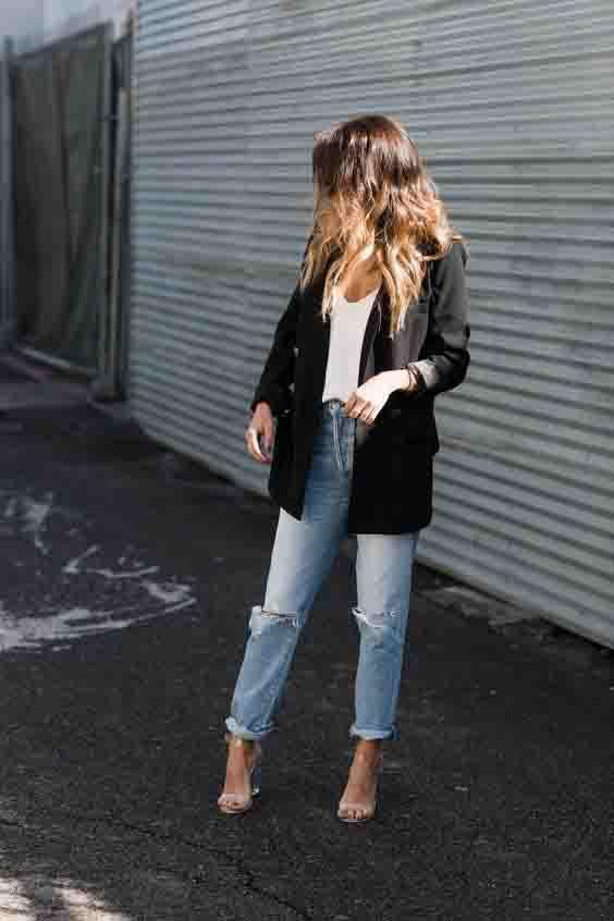 6 maneiras de usar calça jeans e salto alto