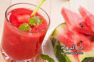 عصير البطيخ بالنعناع