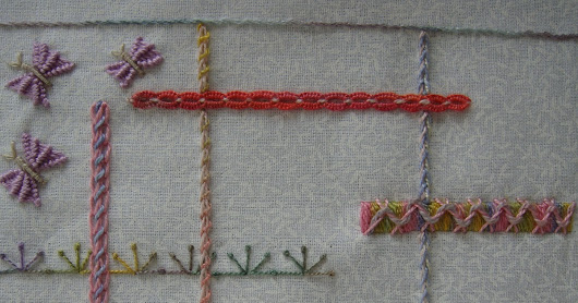TAST Week 80: Whipped Double Chain Stitch....