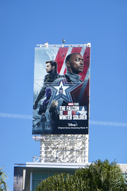 Falcon and Winter Soldier series launch billboard