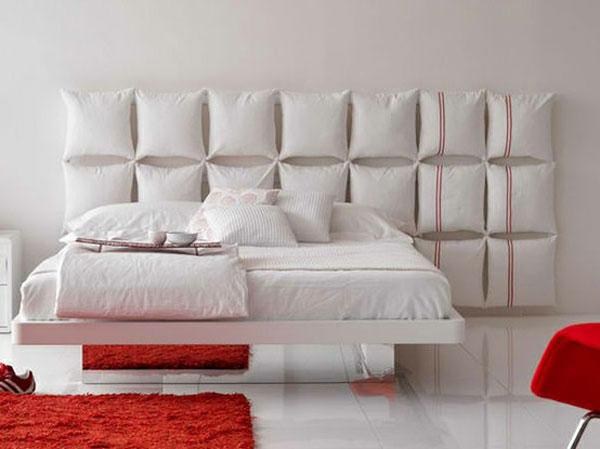 Rose artesanatos cabeceiras de camas - Cojines para cabeceros ...