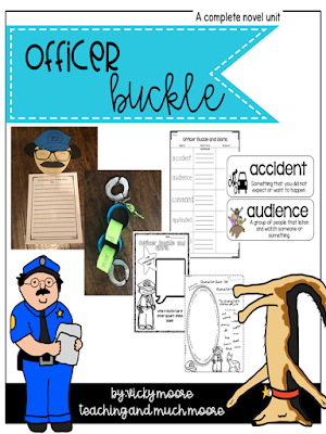 officer buckle craft, book extensions and activities