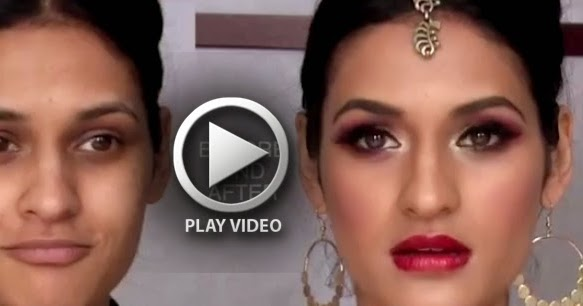 Bridal Face Makeup Step By Step With Pictures : Step By Step Bridal Indian Makeup Video Tutorial - B and G ...
