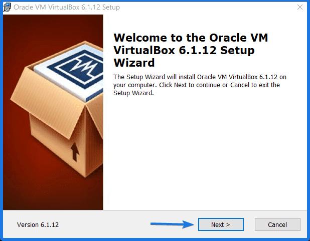 Install Virtualbox Oracle Application