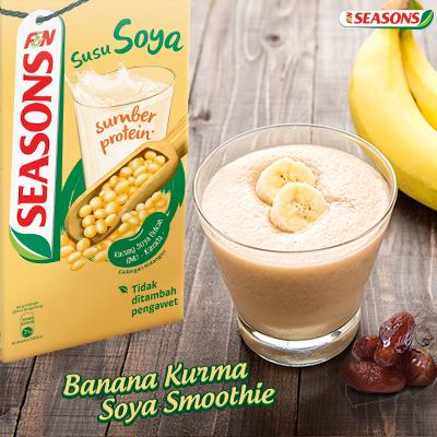 Resipi Banana Kurma Soya Smoothie