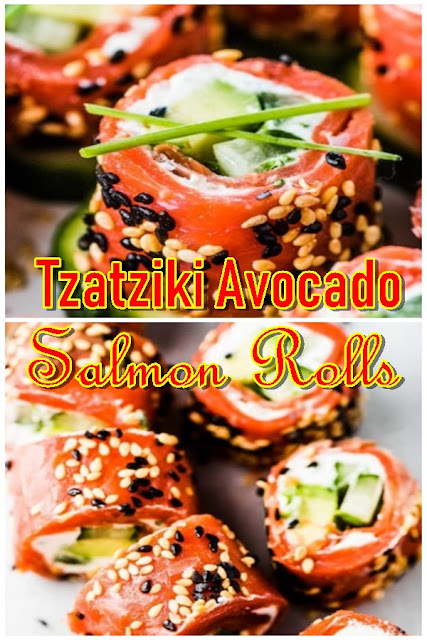 Tzatziki Avocado Salmon Rolls