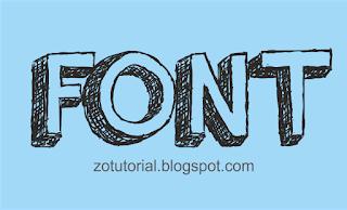 Cara Cepat Install Font Corel Photoshop dan Office