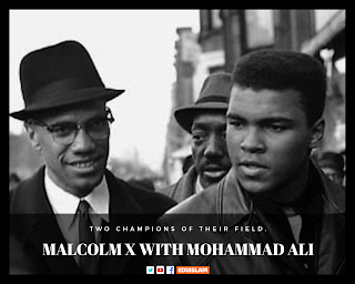 Malcolm X converted to Islam, Malcolm X with Mohammad Ali, Malcolm X in Mecca, EduIslam