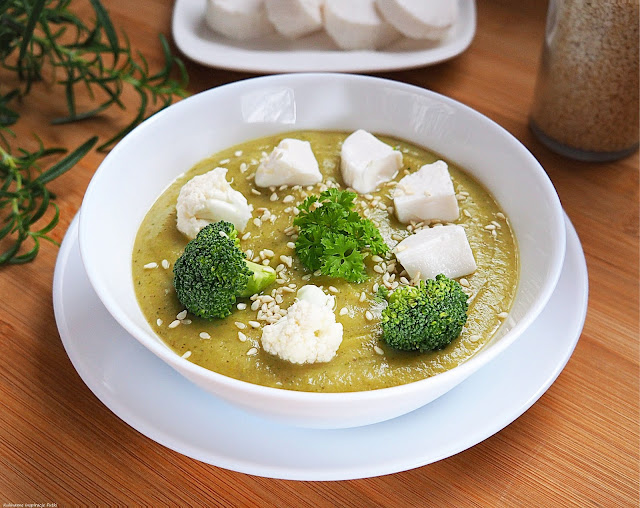 krem brokułowo - kalafiorowy