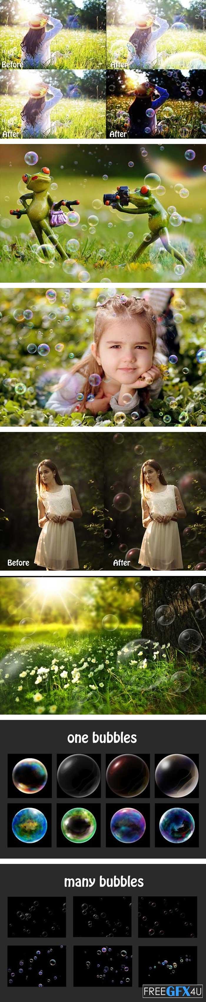 375 Bubbles Photo Overlays