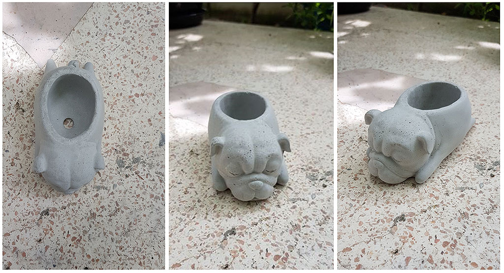 Cement Pot Dog